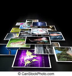 schermi, immagini, flusso