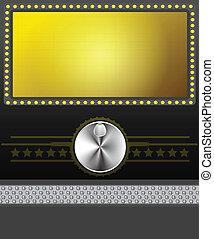 schermo film, bandiera, o