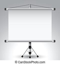 schermo, proiettore, rullo