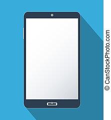 schermo, smartphone, vuoto