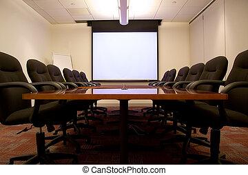 schermo, stanza riunione