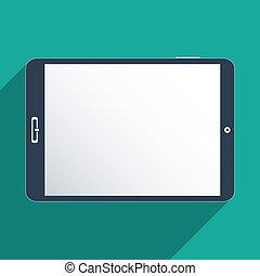 schermo, tavoletta, vuoto