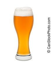 schiuma, frumento, cima, birra, isolato, #2