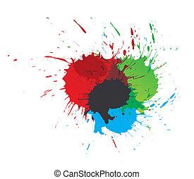schizzi, vernice, colorare