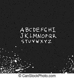 schizzo, alfabeto, struttura, hand-drawn, carta, inchiostro
