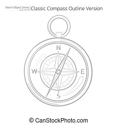 schizzo, compass.
