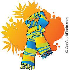 sciarpa blu, moda