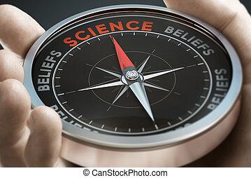 scientifico, vs, metodo, beliefs., o, approccio