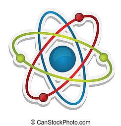 scienza, astratto, icona, atomo