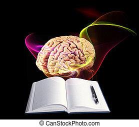 scienza, brain., umano, concetto, ricerca