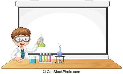 scienza, giovane, copyspace, ragazzo