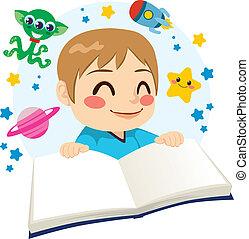 scienza, lettura ragazzo, libro, narrativa