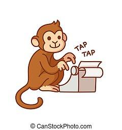 scimmia, macchina scrivere