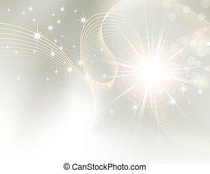 scintilla, starburst, -, fondo
