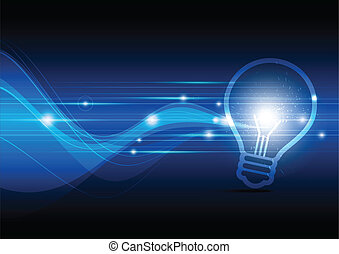 scintillamento, lampada, elettrico