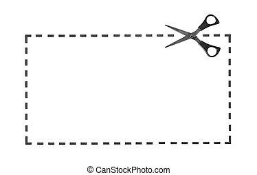 scissor, linea, punteggiato