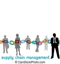 scm, amministrazione, catena, fornitura, persone, direttore, impresa