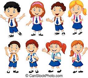 scolari, cartone animato