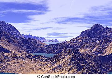 sconosciuto, planet., montagne