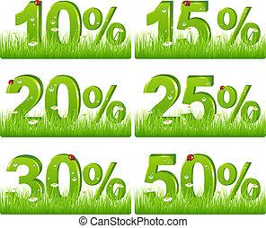 scontare, erba, verde, figure
