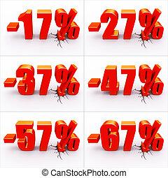 scontare, percento