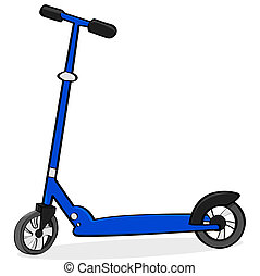 scooter, cartone animato