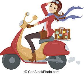 scooter, ragazza