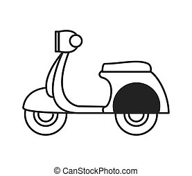 scooter, retro, icona