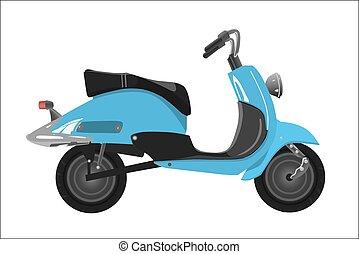 scooter, retro