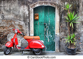scooter, rosso