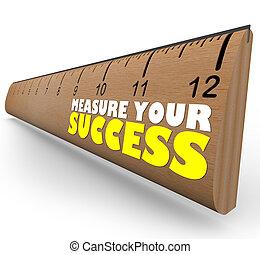 scopo, righello, revisione, valutare, crescita, misura, progresso, tuo
