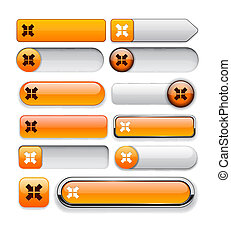 scopo, web, bottone, high-detailed, collection.