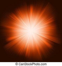 scoppio, luce, eps, sfavillante, stars., arancia, 8