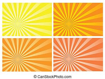 scoppio sole, giallo, raggio