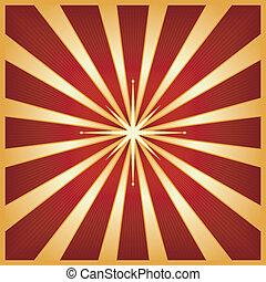 scoppio, stella, rosso, oro, centro