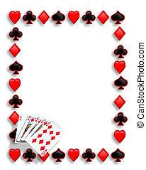 scorrere, gioco, bordo, cartelle, reale, poker