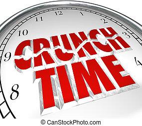 scricchiolio, giunco, orologio, momento, scadenza, tempo, fretta, finale