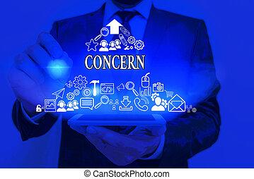 scrittura, concetto, testo, o, significato, direttamente, qualcuno, relate., coinvolgere, importante, essere, concern.