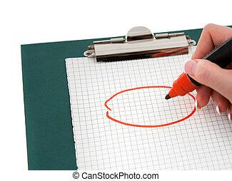 scrittura mano, messaggio, importante