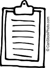 scrittura, supporto, carta, informazioni, hand-drawn