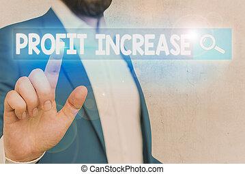 scrittura, testo, parola, crescita, increase., profitto, sales., reddito, concetto, generare, o, affari