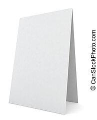 scrivania, mostra, bianco