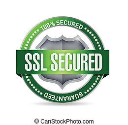 scudo, assicurato, illustrazione, ssl, disegno, sigillo, o