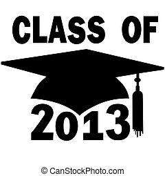 scuola, berretto, graduazione, alto, università, classe, 2013