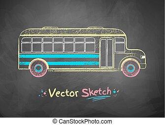 scuola, bus.