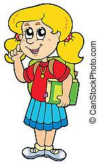 scuola, consigliare, ragazza