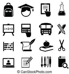 scuola, educazione, cultura, icone