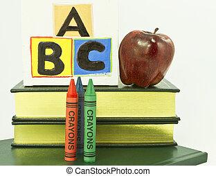scuola elementare, pre, asilo, educazione