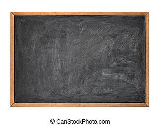 scuola, gesso, nero, asse, vuoto, bianco