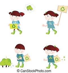 scuola, riciclaggio, sostegno, bambini